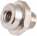 Screw-in distance piece for graphics card block, nickel-plated brass