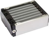airplex modularity system 140 mm, Alu-Lamellen, zwei Kreisläufe, Edelstahl-Seitenteile