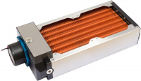 airplex modularity system 240 mm, copper fins, D5 pump, stainless steel side panels