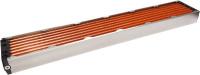 airplex modularity system 840 mm, Kupfer-Lamellen, zwei Kreisläufe, Edelstahl-Seitenteile