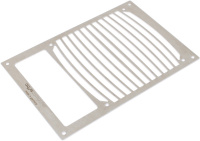 Mounting plate for airplex modularity system 140 with opening for reservoir, brushed stainless steel