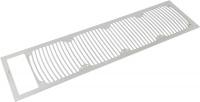 Einbaublende für airplex modularity system 480 mit Ausschnitt f. Ausgleichsbeh., Edelstahl gebürstet