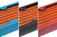 Satz Seitenblenden für airplex modularity system, 420 mm, Aluminium blau eloxiert