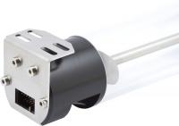 aqualis XT 150 ml mit Füllstandsmessung und Beleuchtungsmöglichkeit, G1/4