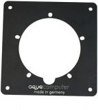 Einbaublende für aquatube Aluminium schwarz