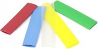 farbiger Schrumpfschlauch 2:1, 9 mm, klar (Zuschnitt 0,5m)