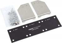 Einbaublende für poweradjust 2/3 und farbwerk, Aluminium schwarz eloxiert