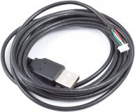 USB cable A-plug to 5 pin miniature connector VISION, length 200 cm
