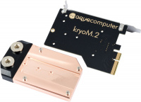 kryoM.2 PCIe 3.0/4.0 x4 adapter for M.2 NGFF PCIe SSD, M-Key with water block