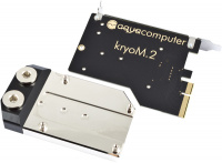 kryoM.2 PCIe 3.0/4.0 x4 adapter for M.2 NGFF PCIe SSD, M-Key with nickel plated water block