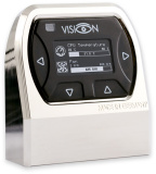 VISION Touch Tischgerät, glänzend vernickelt, IR-Empfänger und Umgebungstemperaturmessung