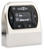 VISION Touch Tischgerät, matt vernickelt, IR-Empfänger und Umgebungstemperaturmessung