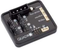QUADRO fan controller for PWM fans with RGBpx lighting set for monitors, 60 addressable LEDs