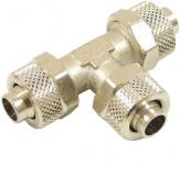 T-Verbinder mit Überwurfmutter 10/8 mm