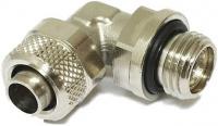 Schlauchverschraubung 10/8 mm G 1/4 m. O-Ring gewinkelt, drehbar