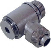 Schlauchverschraubung 10/8 mm G 3/8 m. O-Ring gewinkelt, drehbar