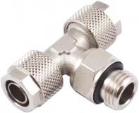 Schlauchverschraubung 10/8 mm G 1/4 Einschraub-T-Verbinder, drehbar