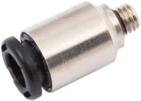 Push-in connector for 6 mm hoses, M5 thread