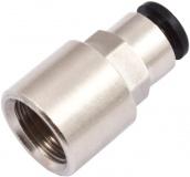 Steckanschluss für 6 mm-Schläuche, Innengewinde G 1/4