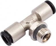 Anschluss plug&cool Einschraub-T-Verbinder G 1/4, drehbar