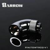 Barrow Adapter 90° (Snake), zweifach drehbar, Innen-/Außengewinde G1/4, silber