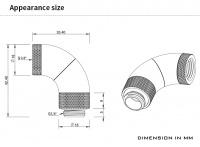 Barrow Adapter 90° (Snake), dreifach drehbar, Innen-/Außengewinde G1/4, schwarz