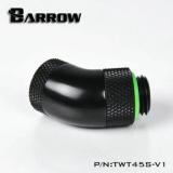Barrow adapter 45°, dual rotary, internal/external thread G1/4, black