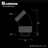 Barrow Adapter 45°, zweifach drehbar, Innen-/Außengewinde G1/4, schwarz