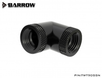 Barrow Adapter 90°, zweifach drehbar, Innengewinde G1/4, schwarz