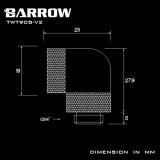 Barrow Adapter 90°, zweifach drehbar, Innen-/Außengewinde G1/4, schwarz
