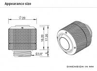 Barrow Schlauchverschraubung 13/10 mm G1/4, schwarz