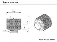 Barrow Schlauchverschraubung 16/10 mm G1/4, schwarz
