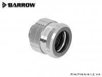 Barrow 12 mm Hardtube-Verschraubung G1/4, verlängerte Ausführung, silber
