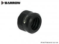 Barrow 16 mm Hardtube-Verschraubung G1/4, verlängerte Ausführung, schwarz