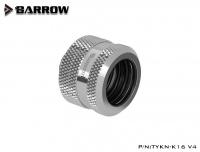 Barrow 16 mm Hardtube-Verschraubung G1/4, verlängerte Ausführung, silber