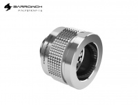 Barrowch Wolverine connector for hard tubes 16 mm with G1/4 outer thread, silver
