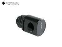 Barrowch Adapter 90°, drehbar, Innen-/Außengewinde G1/4, schwarz