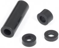 Distanzring 5 mm für M4, Polyethylen schwarz