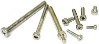 Schraube M2,5 x 4 mm, Zylinderkopf, Innensechskant, A2