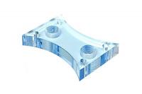 Acrylglasdeckel für cuplex XT, bläulich, Gewinde G1/8