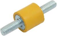 Gummipuffer zur Pumpenentkopplung, M4 Gewindebolzen, extraweich, gelb