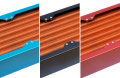 Satz Seitenblenden für airplex modularity system, 480 mm, Aluminium blau eloxiert