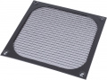 Filter grill for 140 mm fan, black