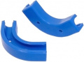 Elbow clip 90° for plug&cool tubing, blue