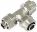 T-connector with cap nuts 13/10 mm