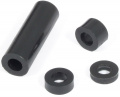 Spacer ring 5 mm for M4, black polyethylene