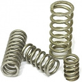 Pressure spring stainless steel, length 12 mm, outer diameter 7.6 mm
