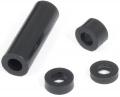 Distanzring 3 mm für M4, Polyethylen schwarz