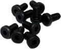 Schraube M3 x 8 mm, flacher Zylinderkopf, Innensechskant, schwarz